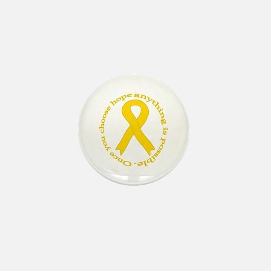 Gold Hope Mini Button
