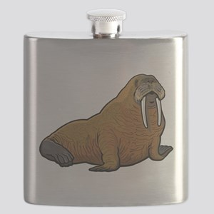 Walrus wild animal Flask