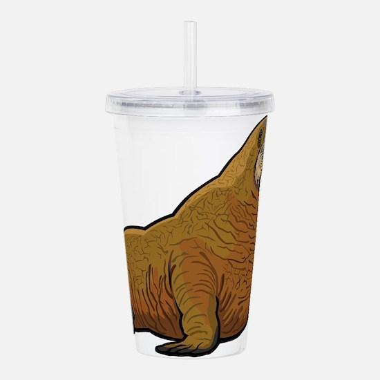 Walrus wild animal Acrylic Double-wall Tumbler