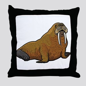 Walrus wild animal Throw Pillow