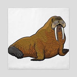 Walrus wild animal Queen Duvet