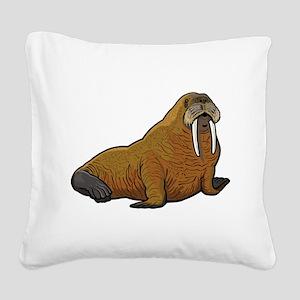 Walrus wild animal Square Canvas Pillow