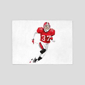 American football player play 5'x7'Area Rug
