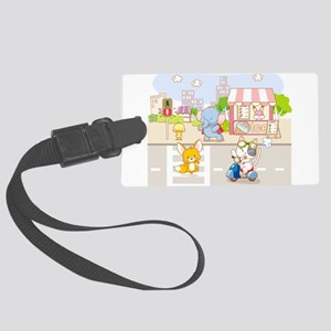Animals crossing road Large Luggage Tag
