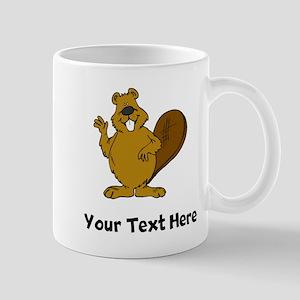 Beaver Waving (Custom) Mugs