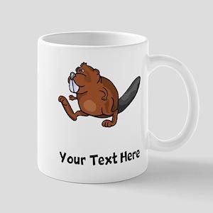Beaver Walking (Custom) Mugs