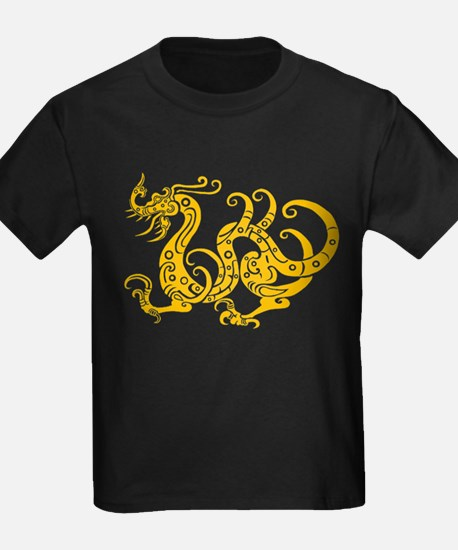 Golden dragon Chinese classical pattern T-Shirt