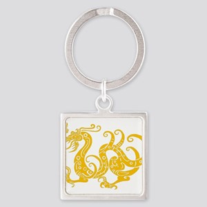 Golden dragon Chinese classical pattern Keychains