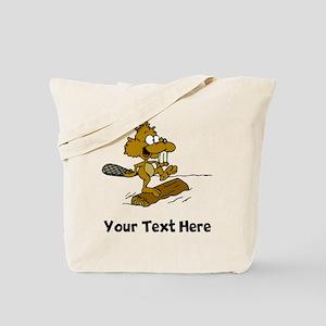 Beaver On Log (Custom) Tote Bag