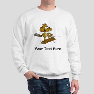 Beaver On Log (Custom) Sweatshirt