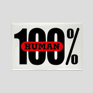 100 Percent Human Rectangle Magnet