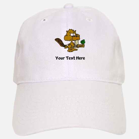 Beaver Eating Branch (Custom) Baseball Baseball Baseball Cap
