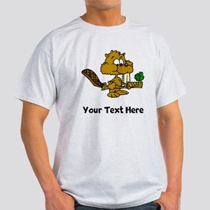 Beaver Eating Branch (Custom) T-Shirt