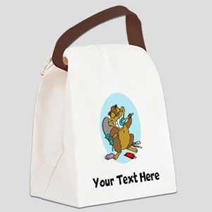Beaver Brushing Teeth (Custom) Canvas Lunch Bag