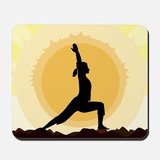 Yoga Warrior Pose Mousepad