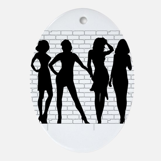 Hooker Silhouettes Oval Ornament