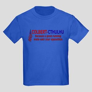 Colbert-Cthulhu Kids Dark T-Shirt