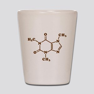 Caffeine Molecular Chemical Formula Shot Glass