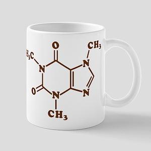 Caffeine Molecular Chemical Formula Mugs