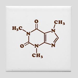 Caffeine Molecular Chemical Formula Tile Coaster