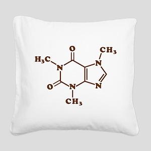 Caffeine Molecular Chemical Formula Square Canvas