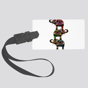 Egyptian elephant art Large Luggage Tag