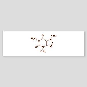 Caffeine Molecular Chemical Formula Bumper Sticker