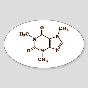 Caffeine Molecular Chemical Formula Sticker