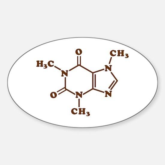 Caffeine Molecular Chemical Formula Decal