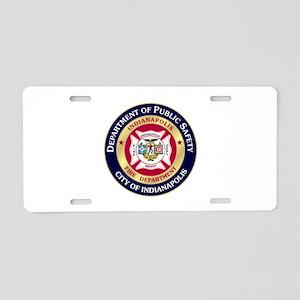 Indianapolis Fire Aluminum License Plate