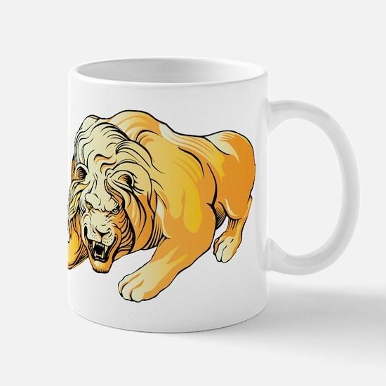 Ferocious lion art Mugs