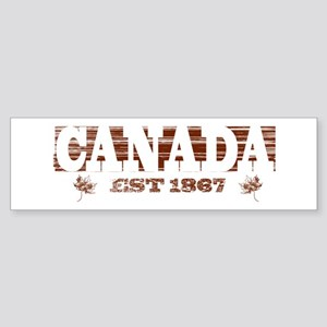 Vintage / Weathered Canada Est 1867 Bumper Sticker