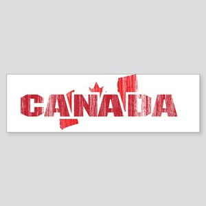 Vintage / Weathered Canada Flag Bumper Sticker