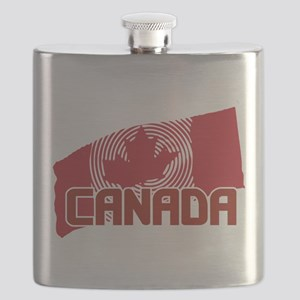 Psychedelic Canadian Maple Leaf Flag Flask