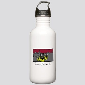 Zombie Jesus Started i Stainless Water Bottle 1.0L