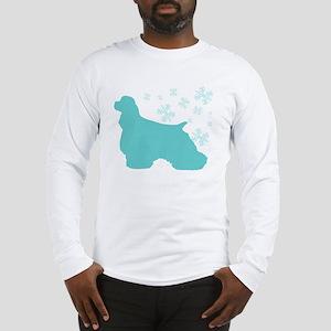 Cocker Spaniel Snowflake Long Sleeve T-Shirt