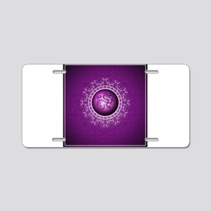 Purple dragon design Aluminum License Plate