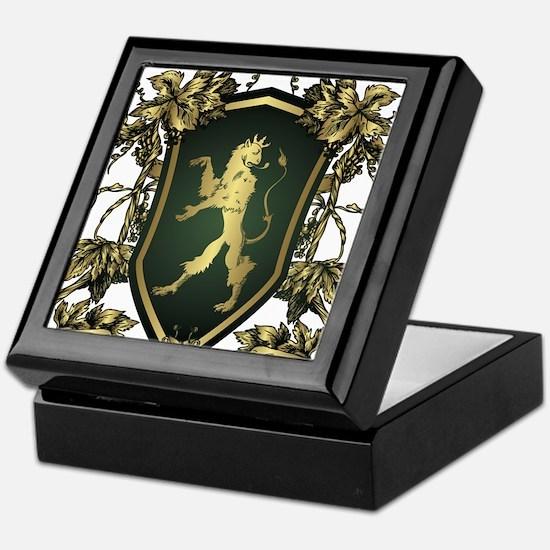 Griffin shield design Keepsake Box