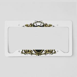 Griffin shield design License Plate Holder