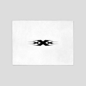 XXX design art 5'x7'Area Rug