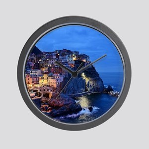 Italy Cinque Terre Tourist destination Wall Clock