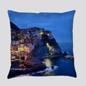 Italy Cinque Terre Tourist destina Everyday Pillow