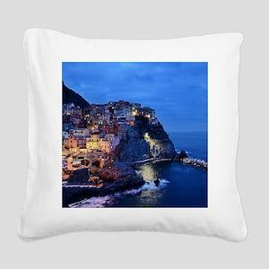 Italy Cinque Terre Tourist de Square Canvas Pillow