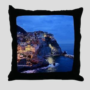 Italy Cinque Terre Tourist destinatio Throw Pillow