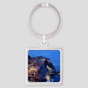 Italy Cinque Terre Tourist destination Keychains
