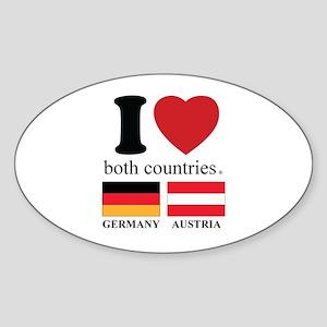GERMANY-AUSTRIA Sticker (Oval)
