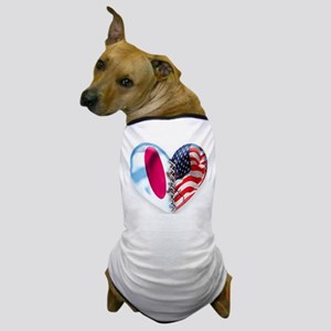 Japan & USA Broken Heart Dog T-Shirt