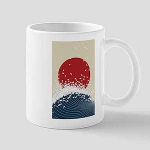 VINTAGE JAPANESE RISING SUN PRIN 11 oz Ceramic Mug