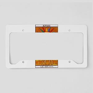 sun tarot card License Plate Holder