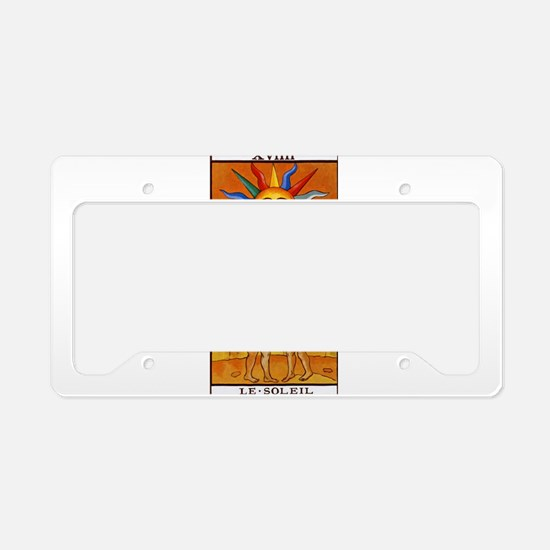 sun tarot card License Plate Holder
